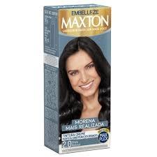 Kit Tinta de Cabelo Maxton ,, Preto Natural,,  Morena Mais Realizada 2.0,  50 g + 50 ml, Embelleze MHD 10.01.2021