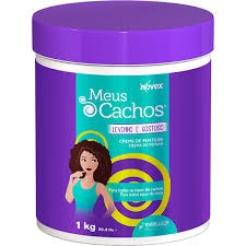 Creme de Pentear  ,Meus Cachos Levinho e Gostoso 1kg , Novex MHD 15.08.2023 (Abbildung ähnlich)