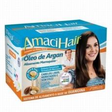 AmaciHair Kit, Oleo de Argan, 400 g, Sistema de Alisamento a base de Guanidina, Embelleze MHD 10.01.2019