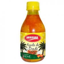 Azeite de Dende, Palmöl 200 ml Flasche Arrifana MHD 01.03.2019