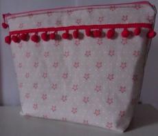 Necessaire Artesanal 100 % algodão / Kulturtasche handgemacht 100% Baumwolle  30 cm x 25 cm