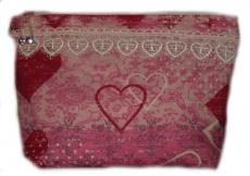 Necessaire Artesanal 100 % algodão Kulturtasche handgemacht 100 %  Baumwolle ca 20 x 25 cm