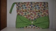 Necessaire Artesanal 100 % algodão  Kulturtasche handgemacht mit Schleife 100 % Baumwolle ca 28 x 23 cm