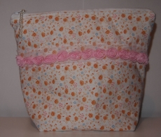 Necessaire Artesanal 100 % algodão  Kulturtasche handgemacht 100 % Baumwolle ca 23 x 23 cm