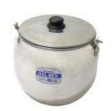 Caldeirão Bojudo de Alumínio Polido 6 litros DEL REY