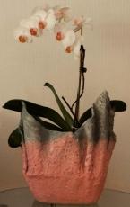 Handgemachter Übertopf Rosa und Grau / Caqueiro feito a mao cor de rosa e cinza ( Ohne Dekorationsartikel)