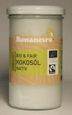 Kokosöl  NATIV / Oleo de Coco BIO & Fairtrade 250 ml, Bananeira  MHD 10.07.2018