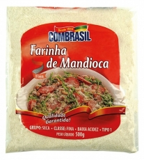 Farinha de Mandioca Branca 500 g, Combrasil MHD 06.07.2018