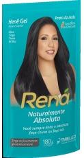 Hene Gel Rena Preto Azulado  180g , Embelleze MHD 11.01.2022