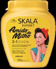 Skala Expert  ,Amido de Milho - 2 em 1 - Creme para Pentear + Creme Hidratante 1 kg ,   MHD 15.05.2022 LIBERADO
