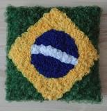 Deko-Kissenbezug , Brasil, 40 cm  x 40 cm,  handarbeit / Capa para Almofada , Brasil, 40 cm x 40 cm  Artesenal