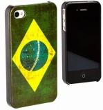 Handy Schutzhülle / Capa de Celular ,, Bandeira Brasil ,, SO/NUR FÜR IPHONE 4 / 4 S