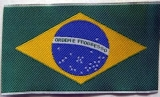 Etiketa - tecido para costura ,, Bandeira Brasil,, 8 x 5 cm