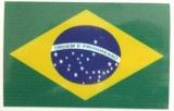 Brasilien- Aufkleber / Adesivo 10 x 8 cm