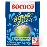 Agua de Coco 200 ml Sococo MHD 01.02.2018
