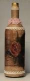 Handbearbeitete (Decoupage) Flasche 32 cm