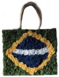 Tasche mit Henkel  ,,Brasil,, 34 cm x 38 cm Frontseite handgearbeitet