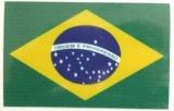Brasilien Aufkleber Adesivo 12 cm  x 8 cm  ( Abbildung ähnlich)